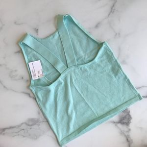 NWT American Apparel mint ble knit crop